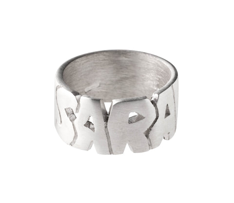 Italian 925‰ Silver Ring with Carved Name