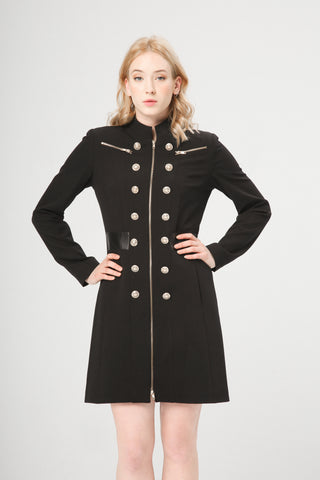 Fontana 2.0 Women's Military Coat. PRISCA_BLACK