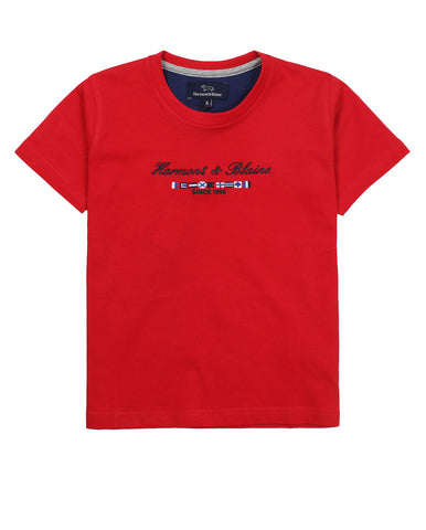 harmont & blaine t-shirt for boys/baby boys. 54268_hb_jl543_6_rosso