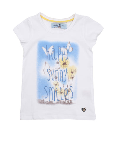 harmont & blaine t-shirt for girls. 54301_hb_502xgml002_1_bianco