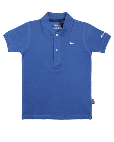 harmont & blaine polo for boys. 54330_hb_24sjl016_69_blu