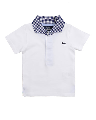 harmont & blaine polo for baby boys. 54340_hb_24sjl012_1_bianco