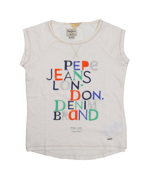 Pepe Jeans T-Shirt For Girls. pjpg500582_803_bianco_220238
