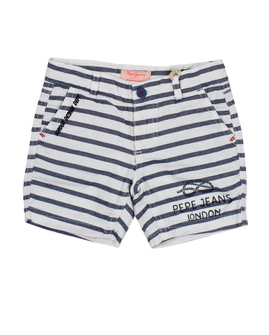 Pepe Jeans Bermuda For Boys. pjpb800158_803_bianco_220325