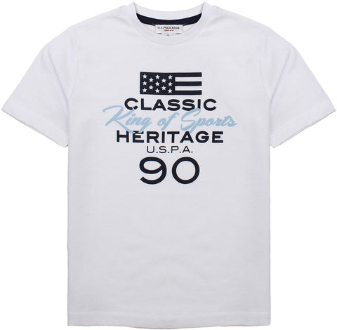 U.S. Polo t-shirt for boys. 56073_us_49351_32649_100_bianco
