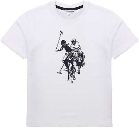 U.S. Polo t-shirt for boys. 56081_us_49789_32614_100_bianco