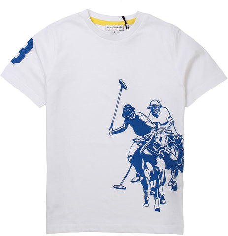 U.S. Polo t-shirt for boys. 56083_us_49351_32655_100_bianco