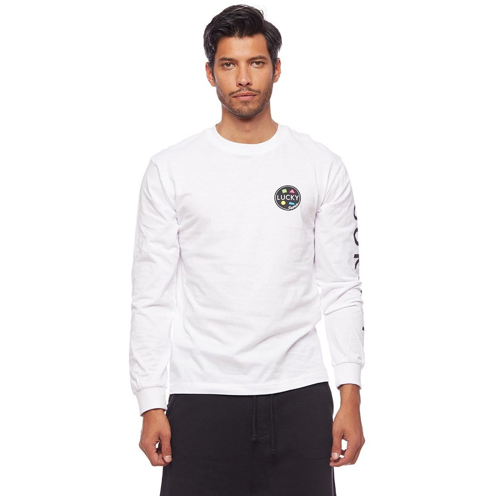 Long Sleeve Surf's Up Retro Top White