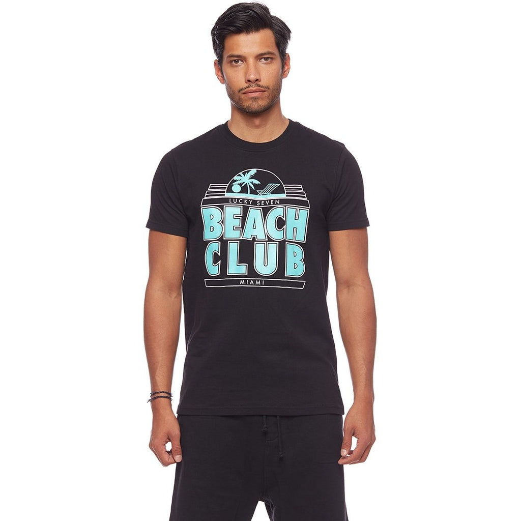 L7 Beach Club Retro Tee Black
