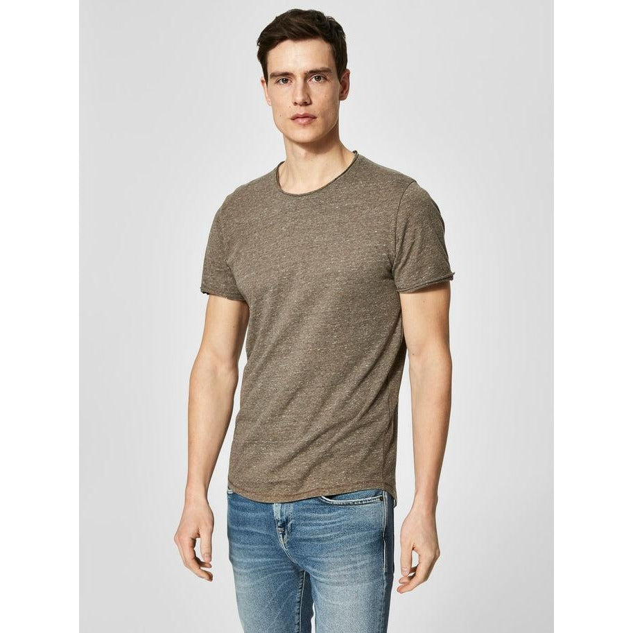 Shnrick Short Sleeve O-Neck Tee Walnut