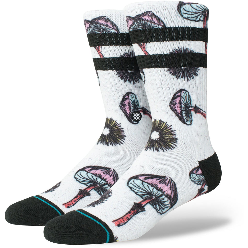 M556A18SIL.WHT Sudz Silly Shrooms Socks White
