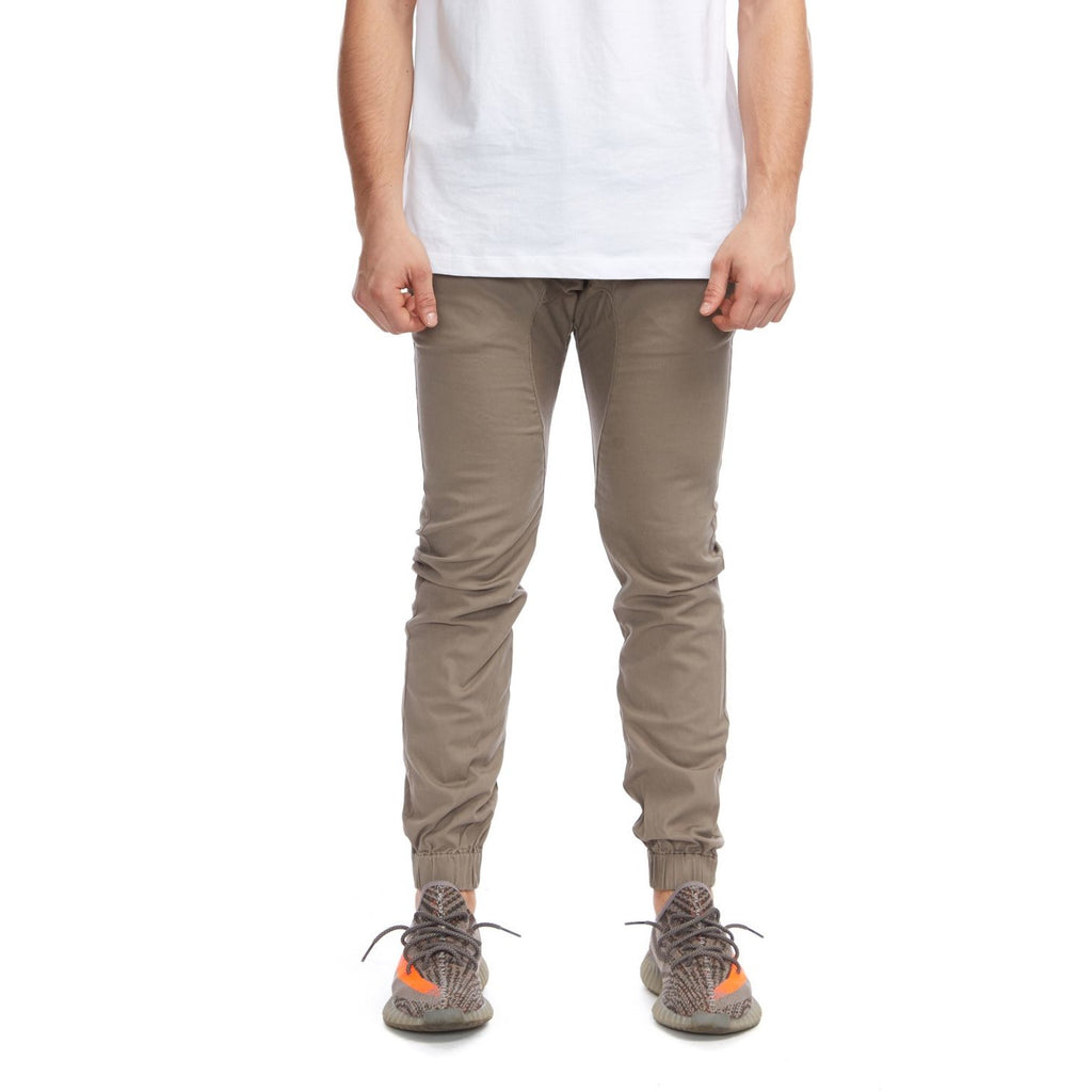 KUL-J1364 Men's Chino Joggers Dark Taupe