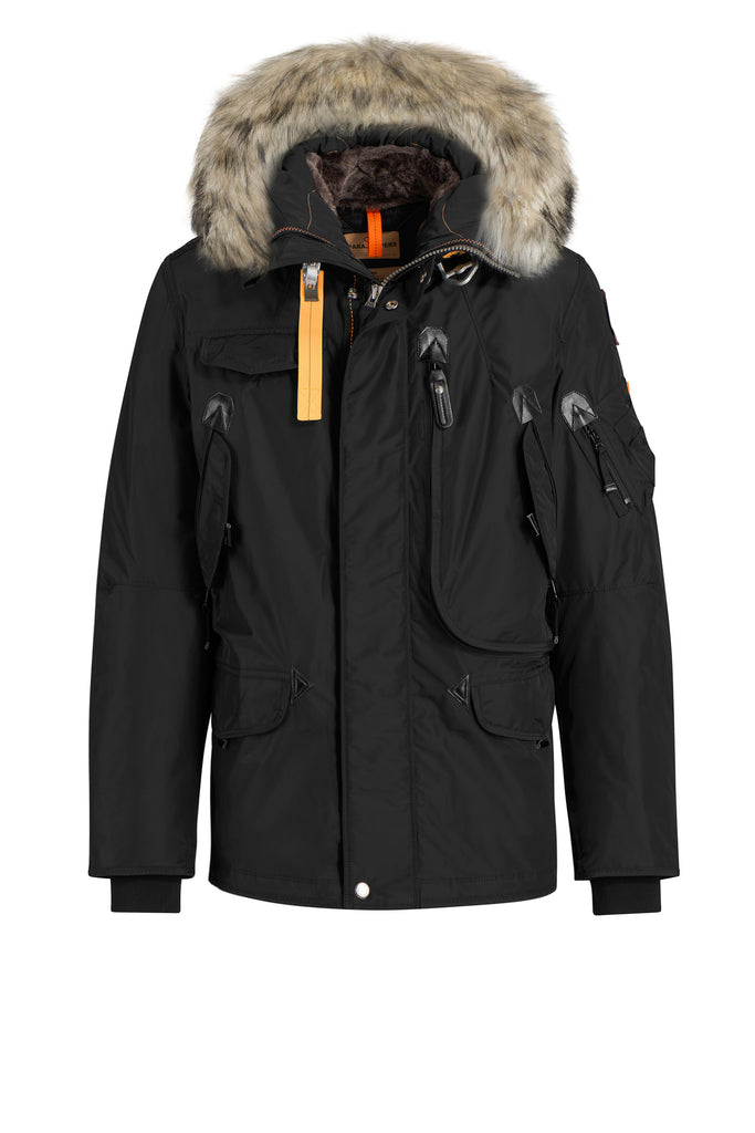 PARAJUMPERS MENS RIGHT HAND PARKA BLACK