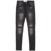 Men's Sixth June Destroyed Biker Jeans - Grey