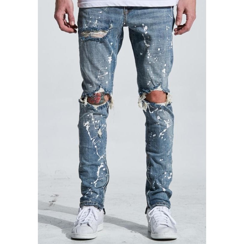 CRYSP218-217 Pacific Denim Paint in Stone Wash Jeans