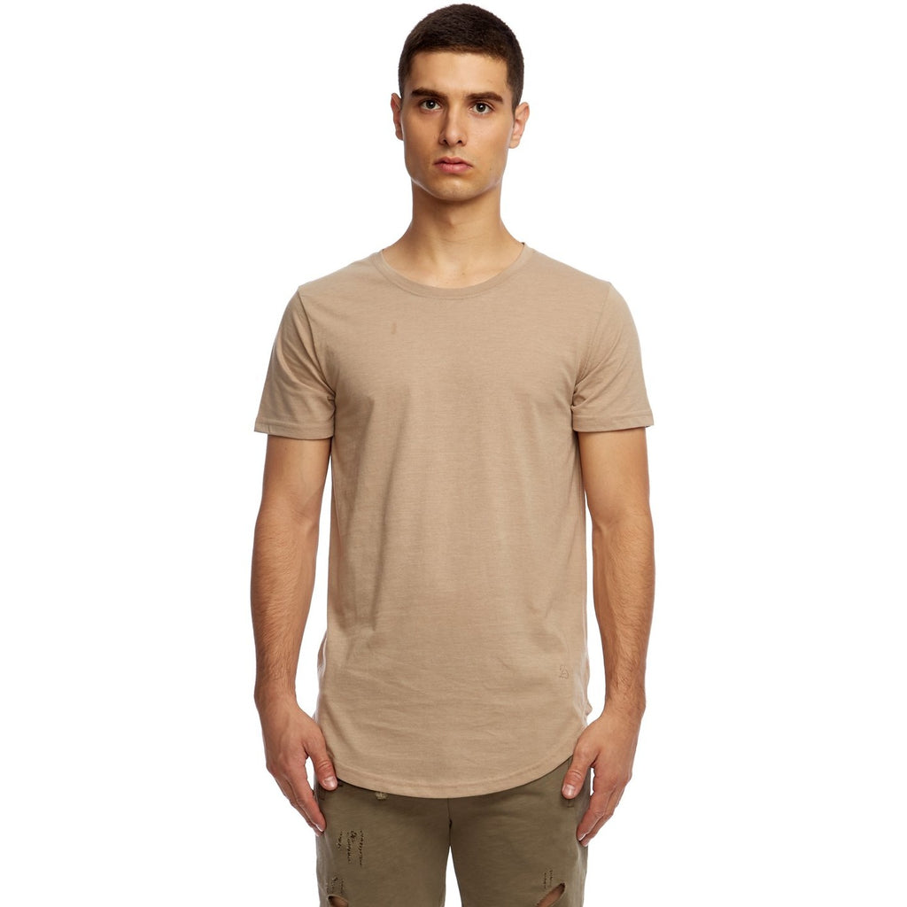 Tan Scoop Tee