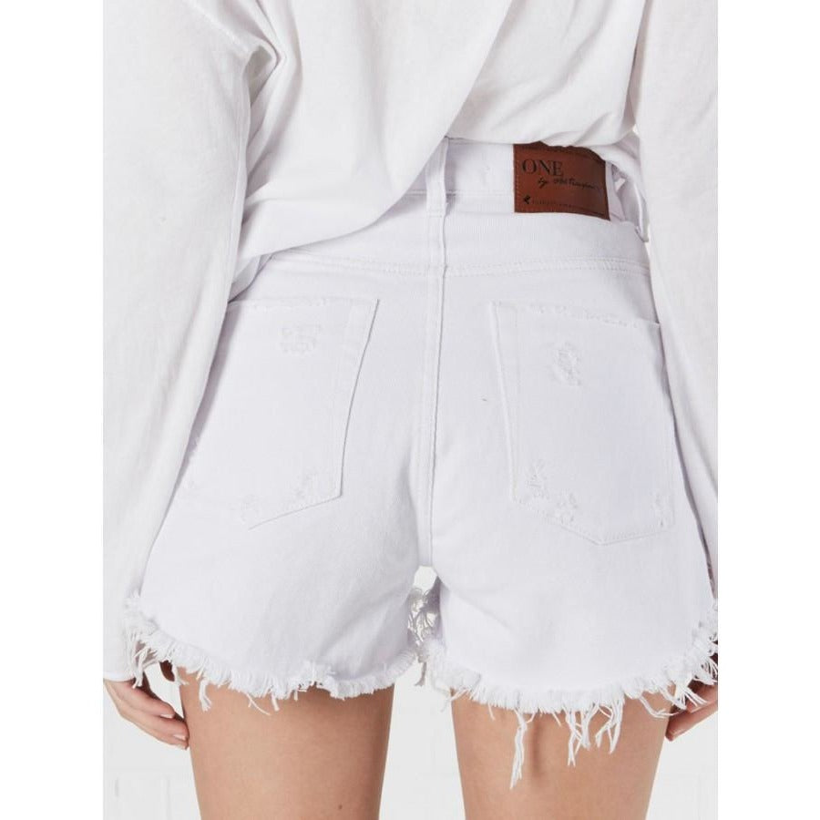 White Beauty High Waist Bonita Shorts