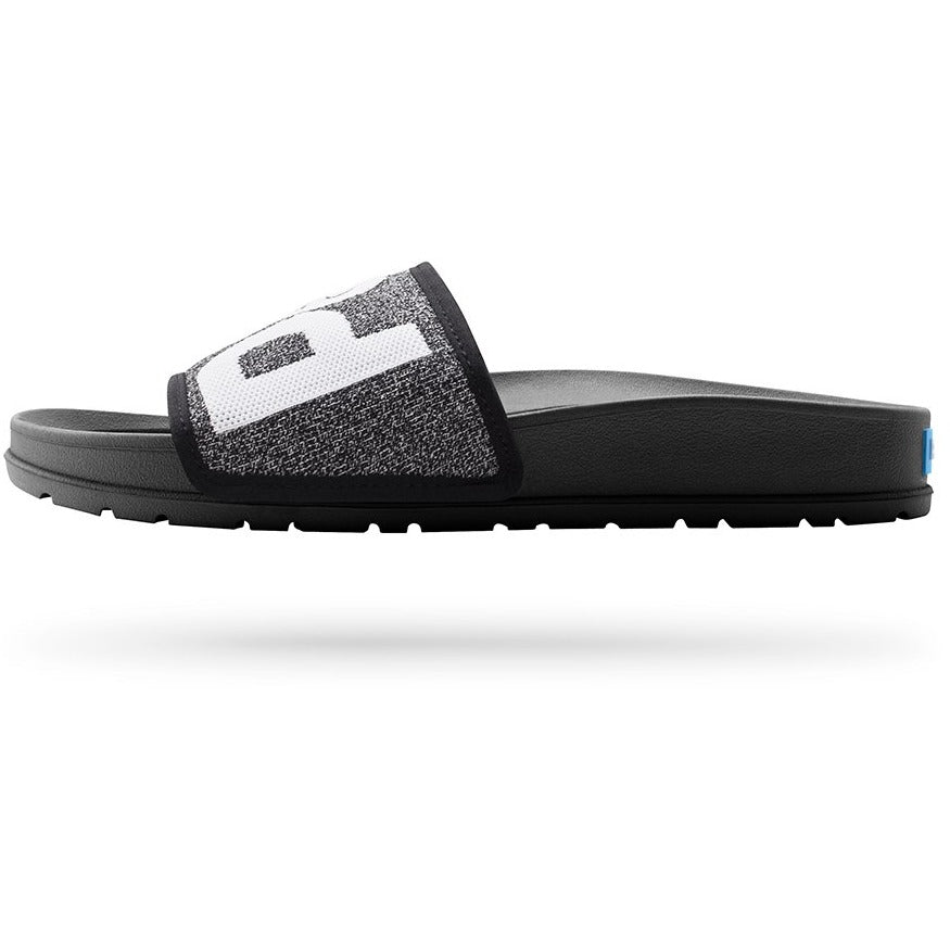 NC04SK Lennon Slide Knit Sandals Heathered Black