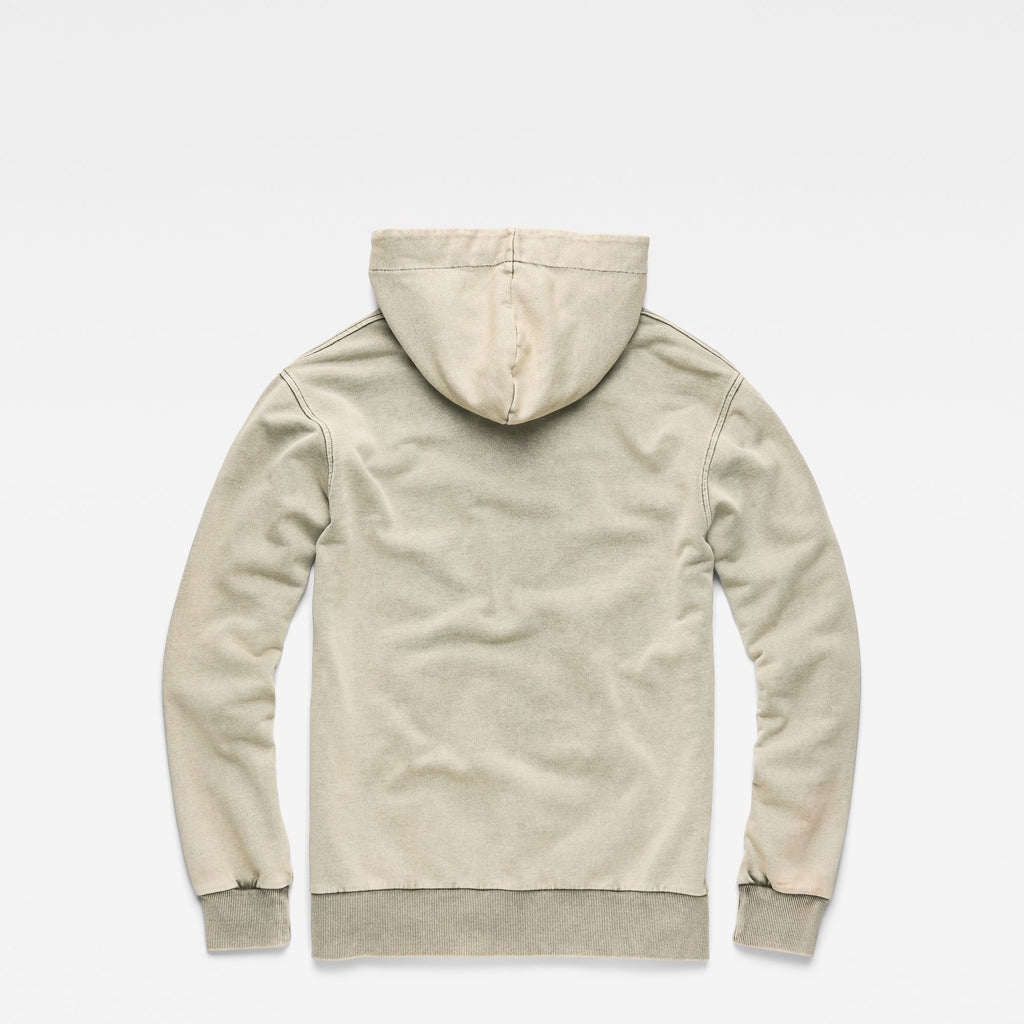 Lyl Strett Deconstructed Hooded SweaterSmoke Green