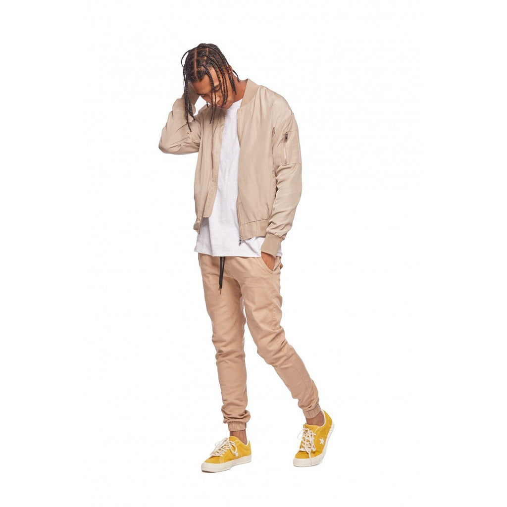 KUL-J1364 Men's Chino Joggers Tan