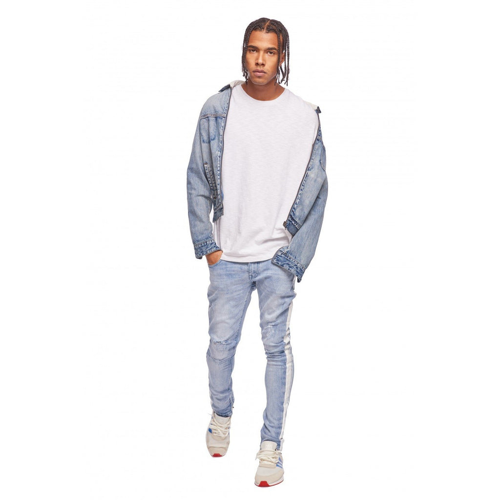 ZIP DENIM JACKETHERITAGE BLUE
