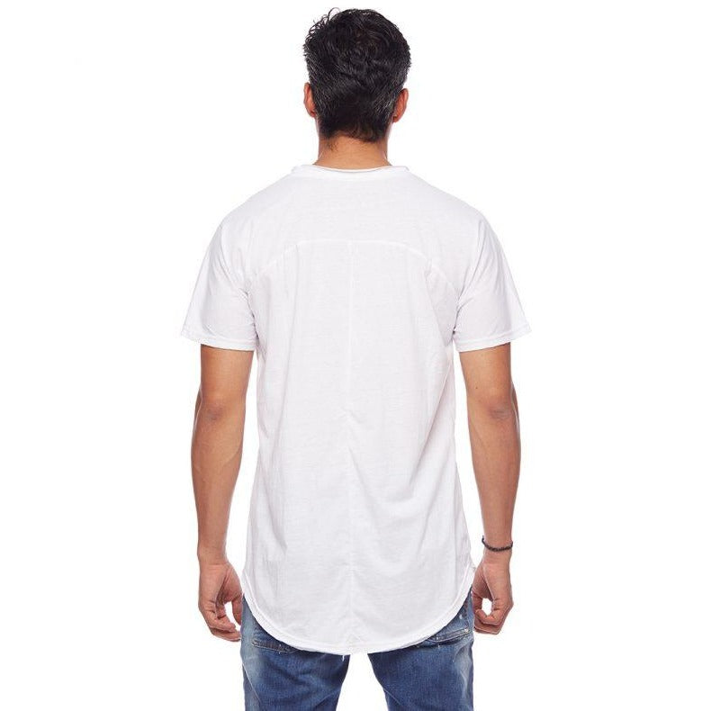Raglan White Long Tee
