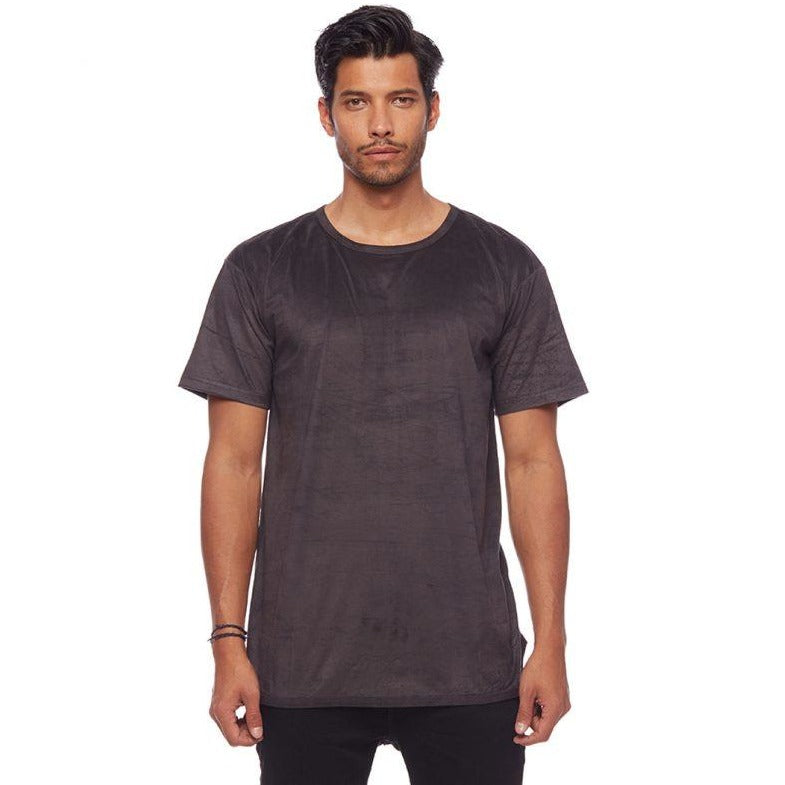 Suede L7 Long Tee Charcoal