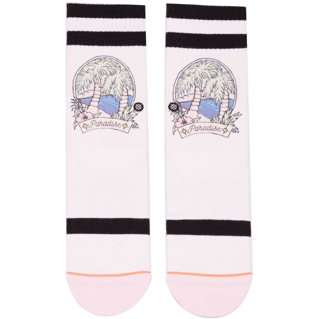 W556A18PAR.NAT Paradise Pop Classic Crew Socks Natural