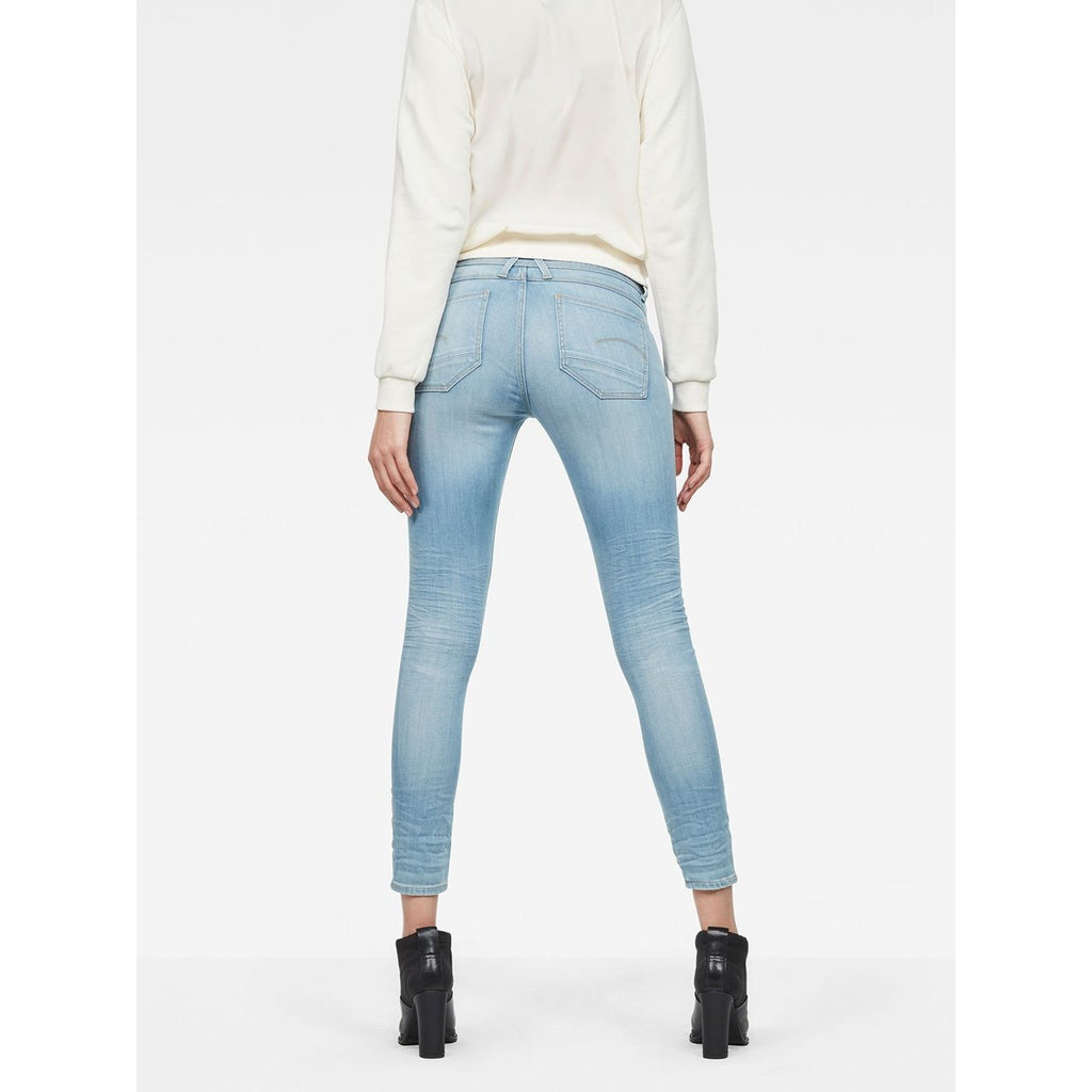 Lynn D-Mid Super Skinny Ankle Jeans Light Aged