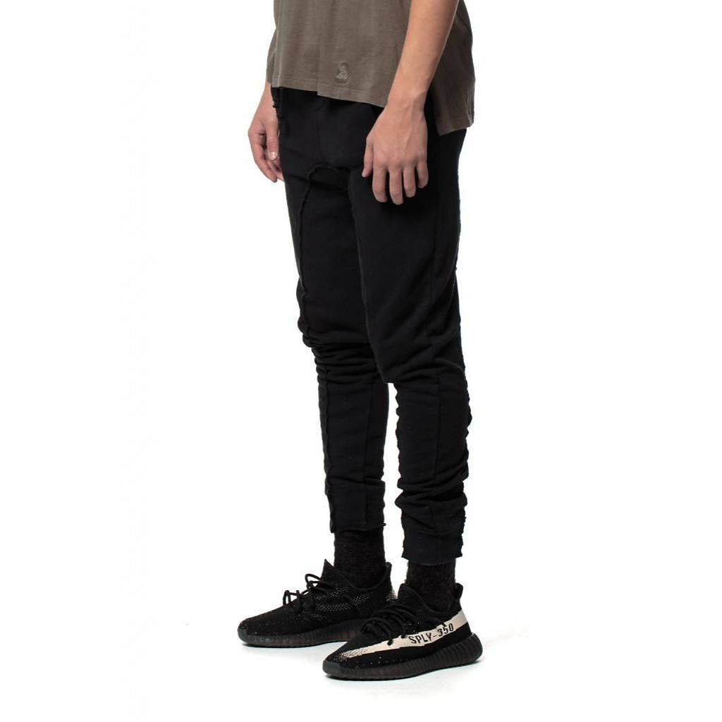 Pintuck Sweatpants Black