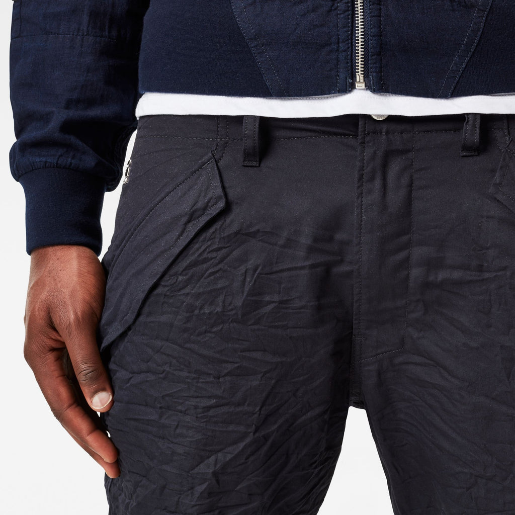 Rovic Deconstructed Loose 1/2 Mazarine Blue Shorts