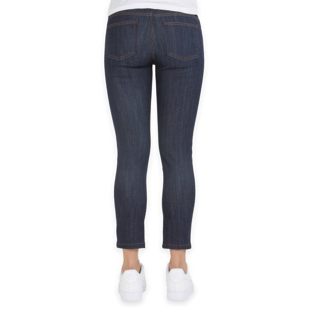 Cropped Skinny Indigo Power Stretch Jeans