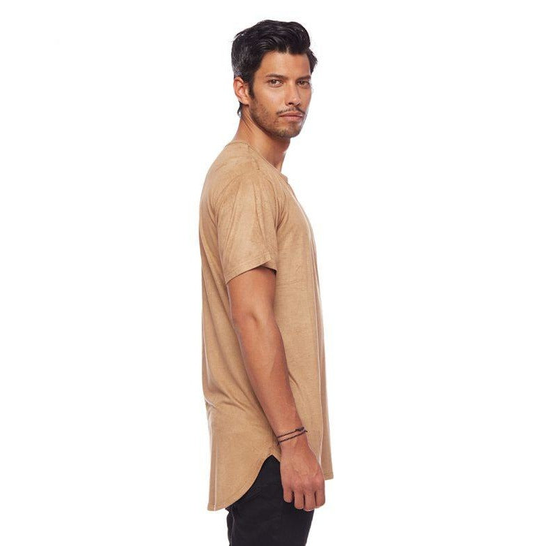 Suede L7 Long Tee Sand