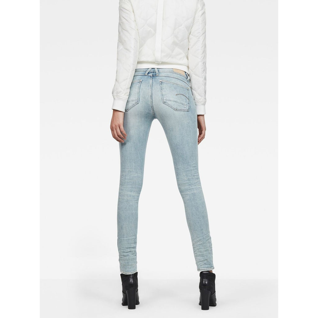 Lynn Mid Skinny Jeans Light Aged Small Destroy