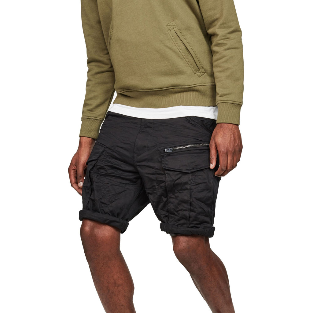Rovic Zip Loose 1/2 Shorts Black