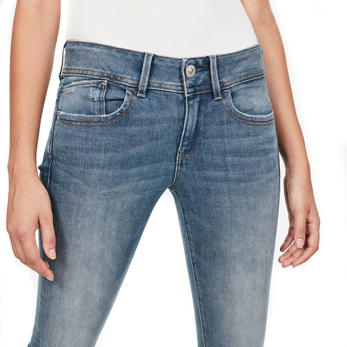 G-Star Lynn Mid Skinny -  Zoey Stretch Denim - Medium Aged Destroy