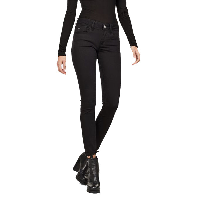 G-Star Lynn Mid Skinny - ITA Black SuperStretch - Rinsed
