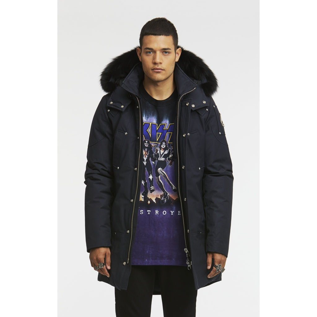 Men's Moose Knuckles Stirling Parka - Navy/Black Fur