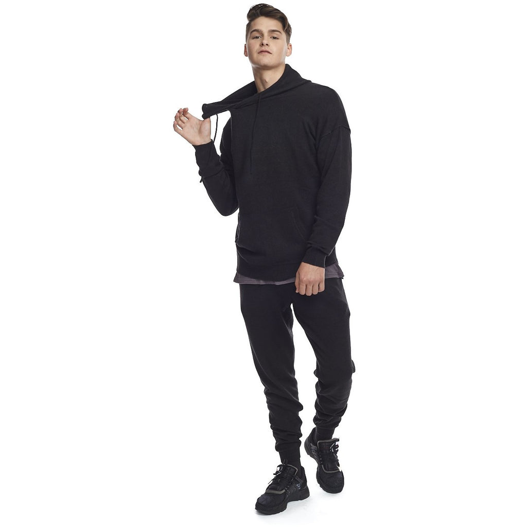 Men's Kuwalla Tee Lounge Nylon Knit Hood - Black