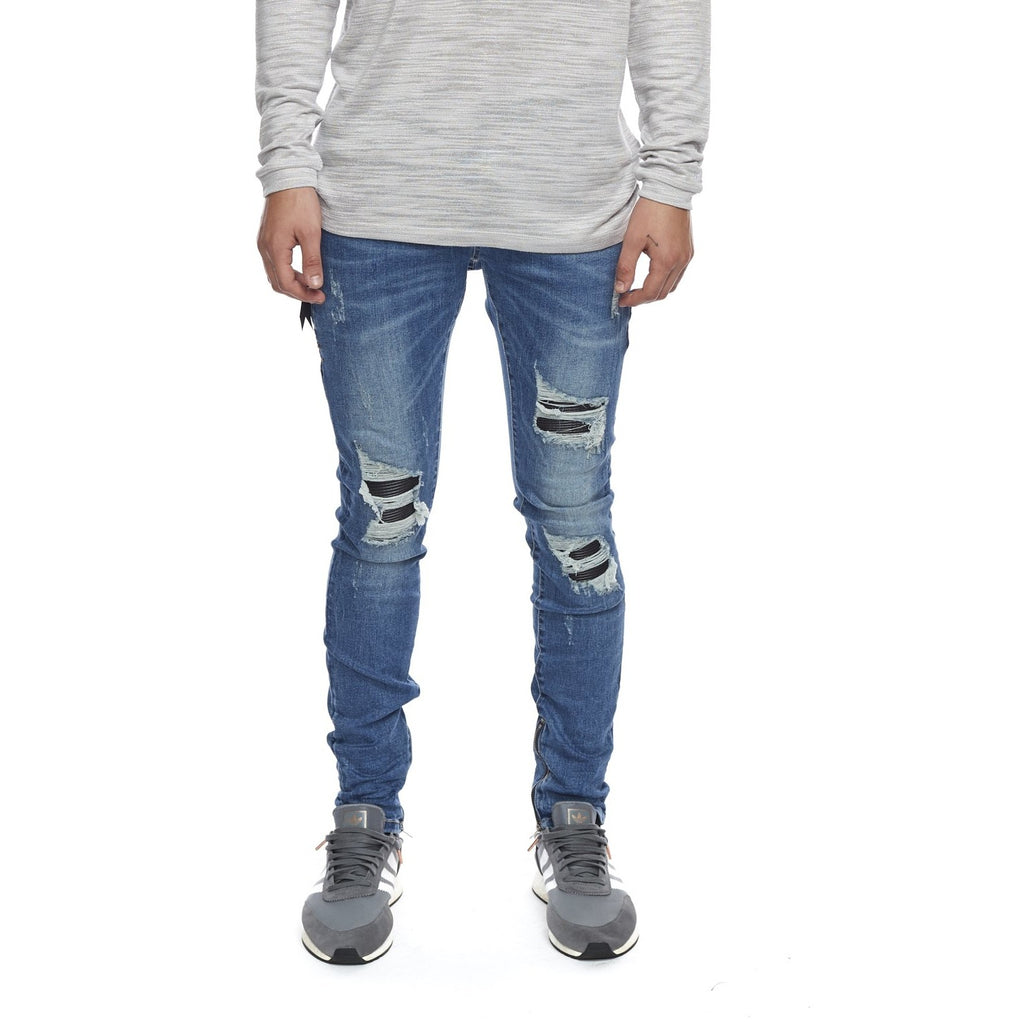 Men's Kuwalla Tee Axel Denim Moto - Indigo