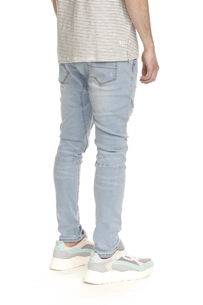 KUWALLA TEE MENS SLASHER DENIM TROUSER ELECTRIC BLUE