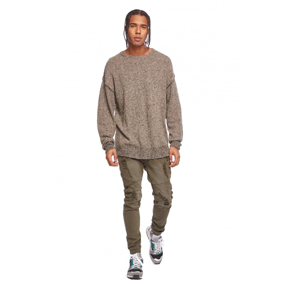 Men's Kuwalla Tee Oversized Knit Sweatshirt Mix Tan