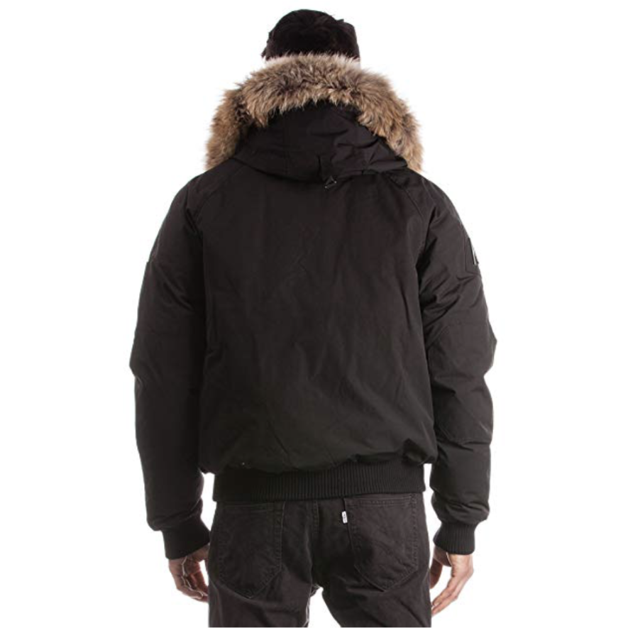Men's Arctic North - Saint sauveur Bomber Winter Jacket - Black