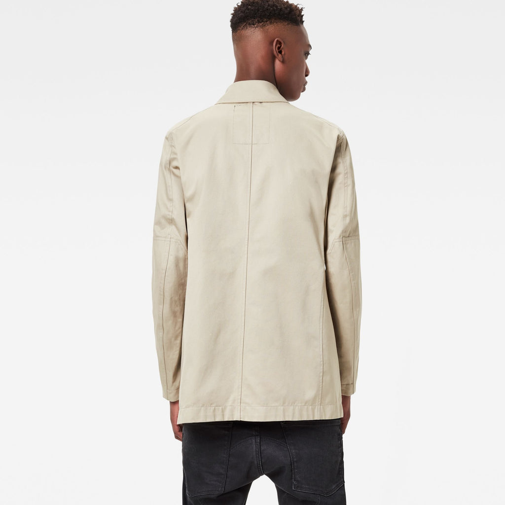 James Short Slim Trench Coat Khaki