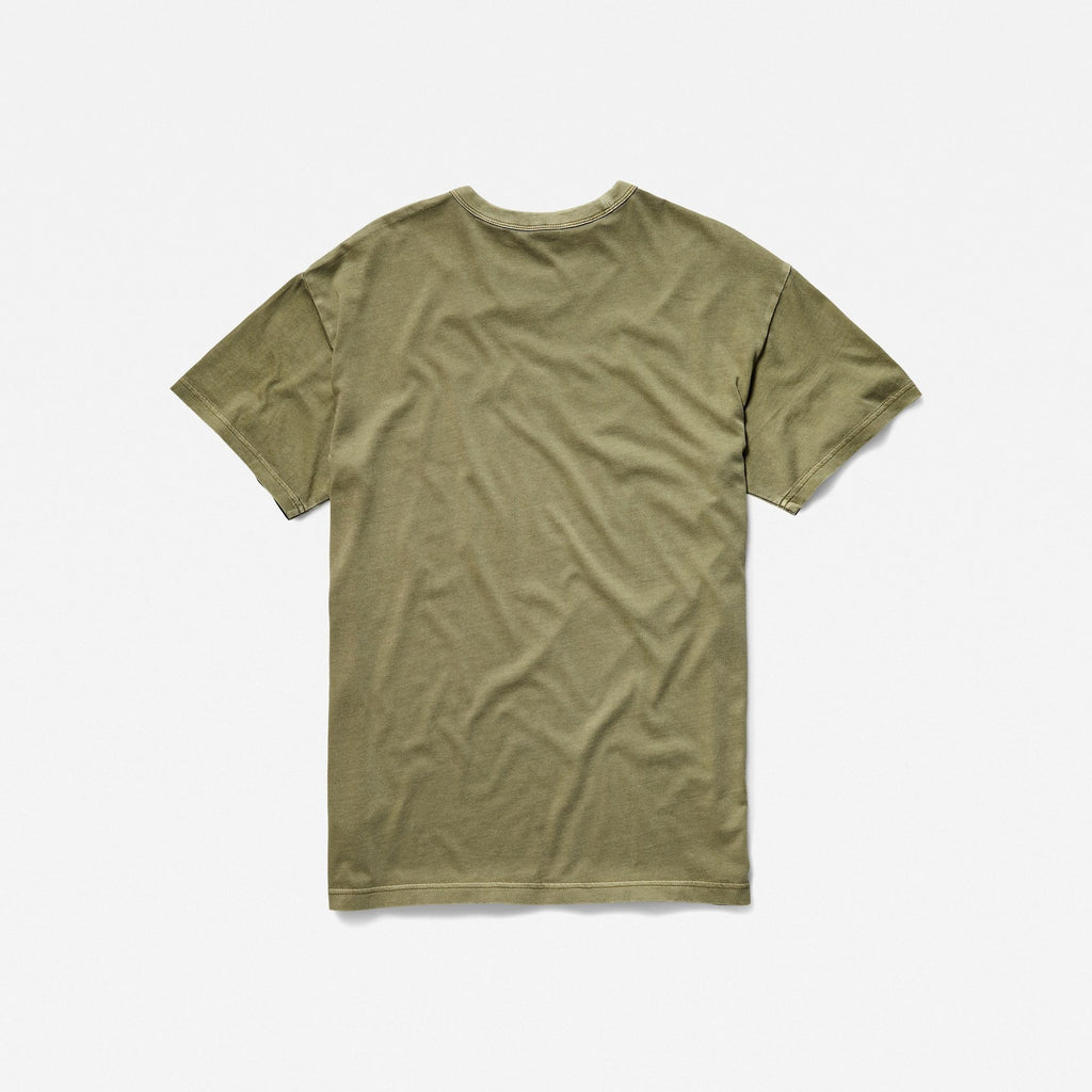 Long Loose T-Shirt Army Green