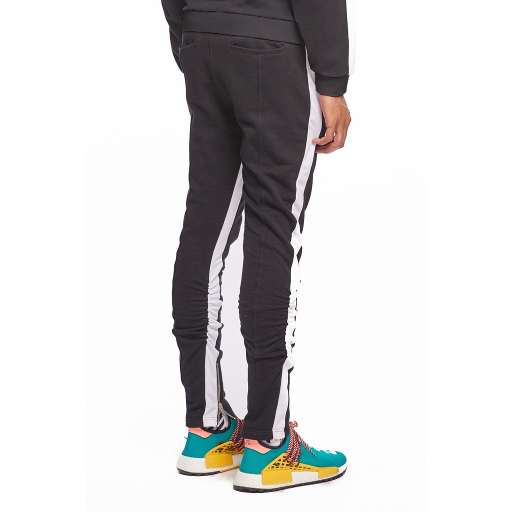 Black/White Track Pintuck Trouser