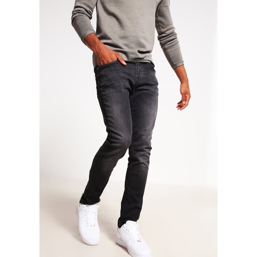 SHNTWOMARIO Slim Fit Black Jeans