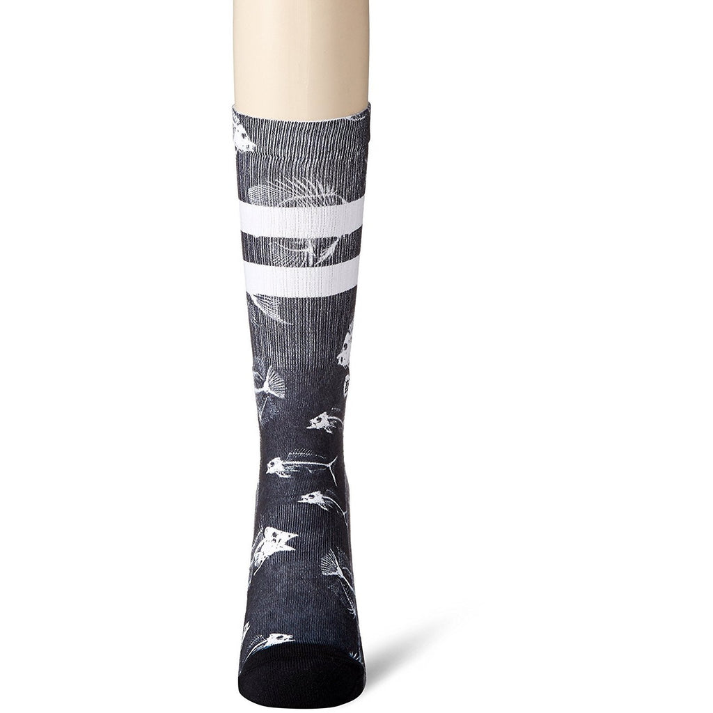 M556D17FIS.BLK Fish Bone Classic Crew Socks Black