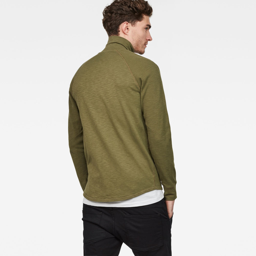 Jirgi Zip Thru Long Sleeve Top Sage