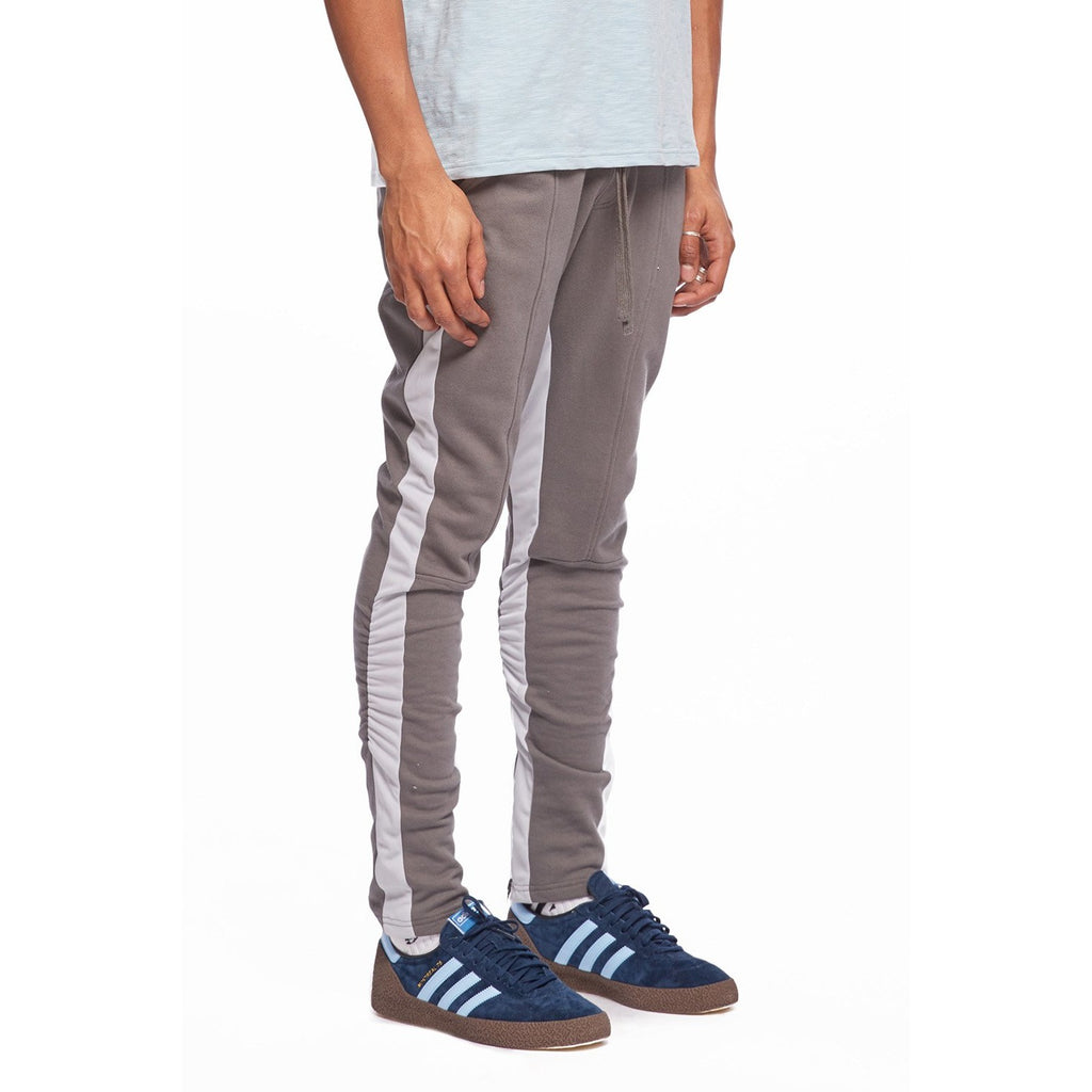 Grey/Blue Track Pintuck Trouser